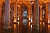 stock photo of cistern  - Underground water Basilica Cistern  - JPG