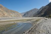 pic of kali  - Kali Gandaki river valley view towards Upper Mustang - JPG