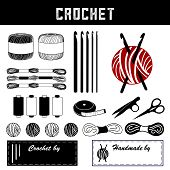 Crochet, Diy Tools And Supplies For Crochet, Tatting, And Making Lace: Crochet Hooks, Crochet Floss, poster