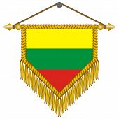 vector pennant with the flag of Lithuania
