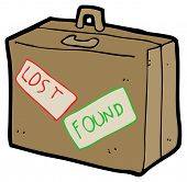 lost and found luggage cartoon