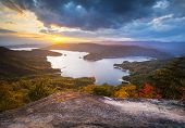 Upstate South Carolina Fall Foliage Lake Jocassee Scenic Autumn Sunset