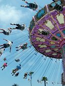 stock photo of amusement park rides  - amusement park ride - JPG