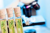 stock photo of chemical reaction  - Control safety of food additives in chemical Lab - JPG