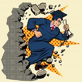 Graduate University College Breaks A Wall, Destroys Stereotypes. Moving Forward, Personal Developmen poster