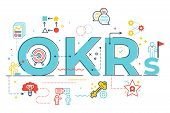 Okrs (objectives And Key Results)word Lettering Illustration poster