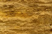 Brown Stone Texture Background, Limestone, Wall Texture, Old Brown Stone Wall. Abstract Background O poster