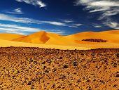 Sand dune in Sahara Desert, Tadrart, Algeria