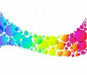 Rainbow Bubble Background Isolated On White