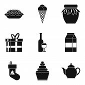 Cool Holiday Icons Set. Simple Set Of 9 Cool Holiday Icons For Web Isolated On White Background poster