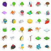 Zoology Icons Set. Isometric Style Of 36 Zoology Icons For Web Isolated On White Background poster