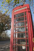 English Countryside Red Telephone Booth