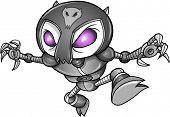 Cyborg Robot Ninja Warrior Vector