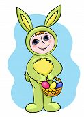Easter Rabbit Child