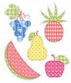 Application Fruits Set.
