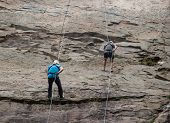 Climbers on a Cliff