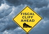 Fiscal cliff warning sign