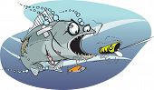 pic of fighter-fish  - Cartoon Fish - JPG