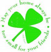 St. Patrick's Day Shamrock Rubber Stamp