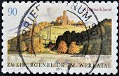 GERMANY - CIRCA 2011: A stamp printed in Germany shows the two guarantor look in the Werratal circa