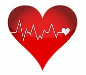 image of lifeline  - lifeline heart illustration design over a white background - JPG