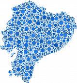 Map of Ecuador - Latin America -