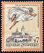 A stamp printed in Austria shows The Cruel Lady of Forchtenstein Castle Burgenland