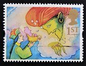 UNITED KINGDOM - CIRCA 1985: a stamp printed in the Great Britain shows Aladdin and the Genie circa