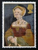 UNITED KINGDOM - CIRCA 1997: A stamp printed in Great Britain shows Jane Seymour wife of Henry VIII