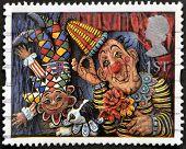 UNITED KINGDOM - CIRCA 1995: A stamp printed in Great Britain shows 'Circus Clowns' (Emily Firmin an