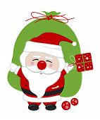 Santa claus design for christmas