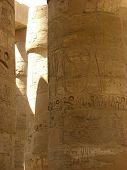 Karnak temple Columns close view