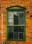 industrielle Backsteingebäude Fenster