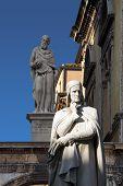 Statue Of Dante In Verona - Italy