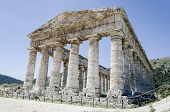 Doric Temple In Segesta, Italy