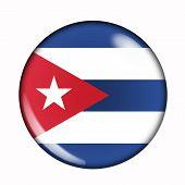 Button Flag Of Cuba