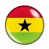 Button Flag Of Ghana