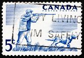 Postage stamp Canada 1957 Hunter and Dog