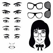 eye set, girl character