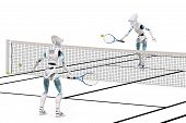 Robots Playing Tennis