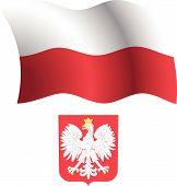 Poland Wavy Flag And Coat