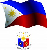 Philippines Wavy Flag And Coat