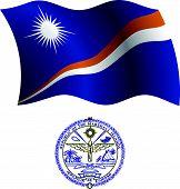 Ilhas Marshall bandeira ondulada e casaco