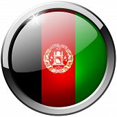 Afghanistan Round Metal Glass Button