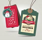 image of cute bears  - Christmas gift tags - JPG