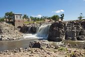 stock photo of water-mill  - sioux falls along the big sioux river in south dakota - JPG