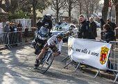 The Cyclist Dumoulin Samuel- Paris Nice 2013 Prologue In Houilles