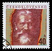 CZECHOSLOVAKIA - CIRCA 1972: stamp printed by Czechoslovakia, shows Frantisek Bilek, sculptor, circa 1972