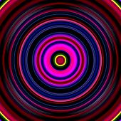Dark red, pink and blue color circles.