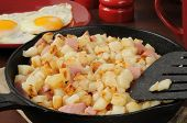 Hash Browns, Ham And Eggs